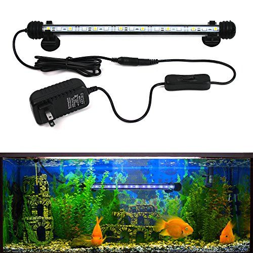 Goeswell Led Aquarium Light For Fish Tanks White And Blue Leds Fixture Underwater Submersible Fish Tank Lamp Fish Tank Lights Aquarium Lighting Fish Tank