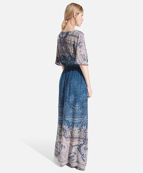 Vestido estampado paisley degradê - OYSHO