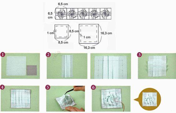De Ulla Quilt Mundo: patchworks japoneses Como fazer uma rosa em patchwork