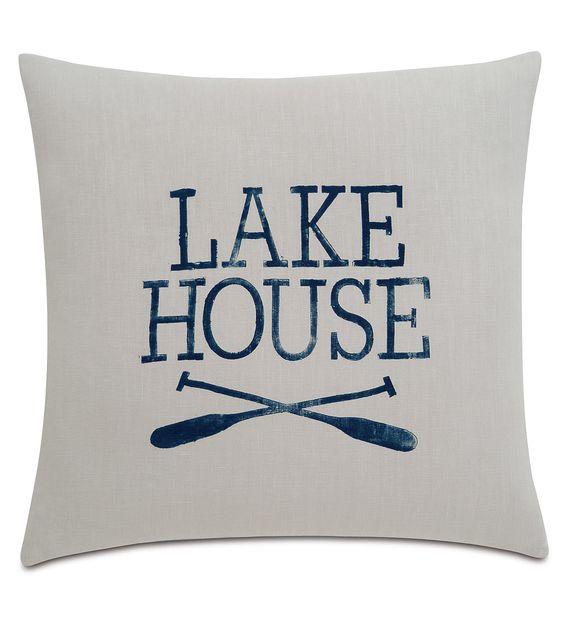 Sail Away Lake Living Throw Pillow