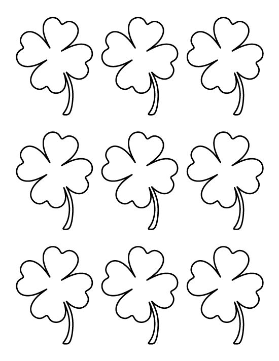 3 Leaf Clover Template