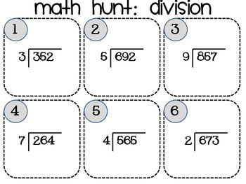 math worksheet : hunt s math and division on pinterest : Single Digit Division Worksheets