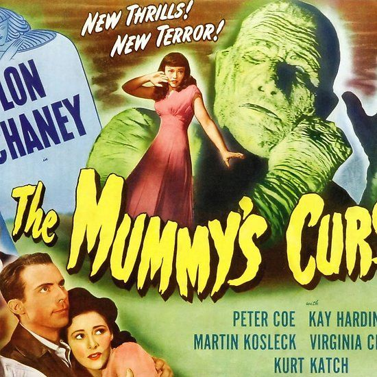 The Mummy S Curse Vintage Horror Movie Poster Landscape Vintage Horror Horror Movie Posters Horror Movies