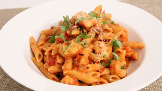 Penne Vodka with Chicken Recipe - Laura Vitale - Laura in the Kitchen Ep...