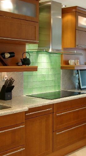 backsplash tile? different color, but I like the luminescence and the squares
