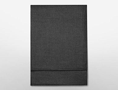 meyer cashmere + silk bedcover in ink   Calvin Klein