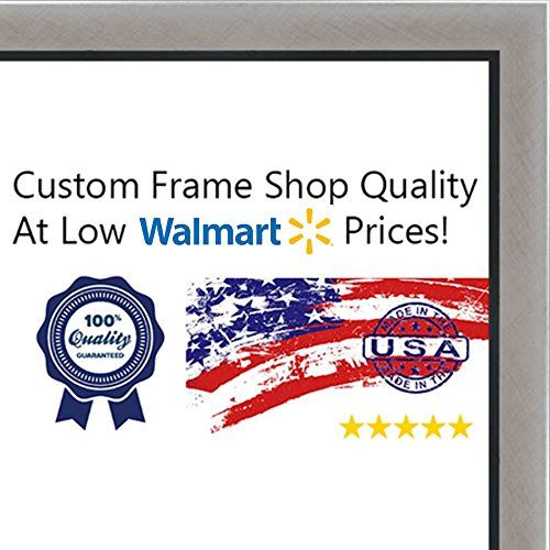 11x17 11 X 17 Stainless Steel Silver With Black Lip Solid Wood Frame With Uv F Wood Picture Frames Picture On Wood Wood Frame
