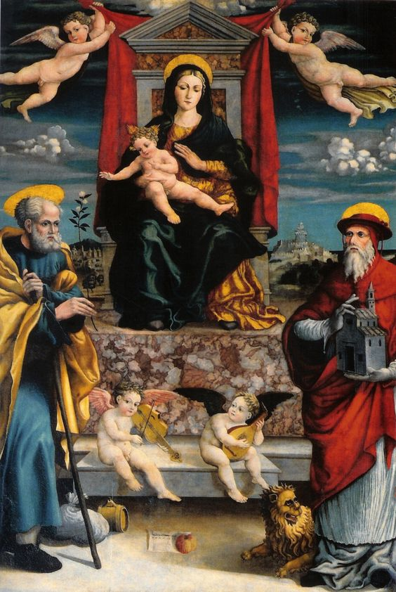 Giovanni Andrea de Magistris, Virgen del Carmen, 1537