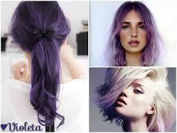 Resultado de imagen para cabellos de color morado en las puntas