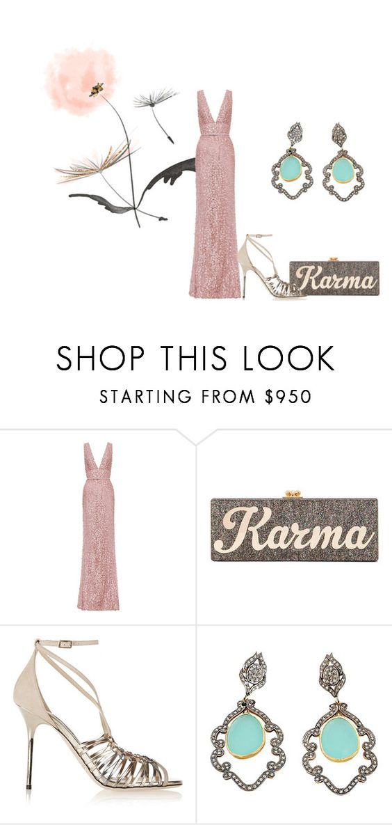 """""""Karma"""" by romaosorno ❤ liked on Polyvore featuring Elie Saab, Edie Parker, Jimmy Choo, women's clothing, women's fashion, women, female, woman, misses and juniors"""