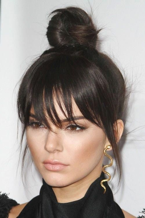 Edgy Updo Hairstyles High Ponytails Hairstylesforlonghair Long Hair With Bangs Hair Styles Hairstyles With Bangs