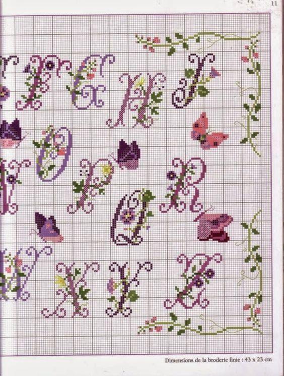 Punto croce schemi gratis e tutorial schema alfabeto for Schemi punto croce farfalle