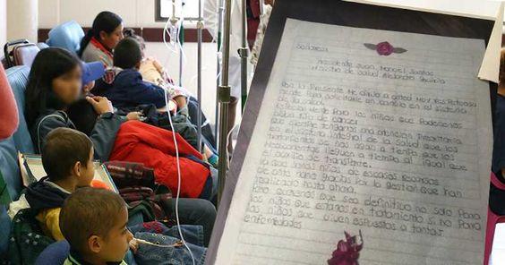 Niños con cáncer le escriben al presidente Santos y claman por ayuda