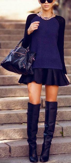 Eu particularmente sou A-P-A-I-X-O-N-A-D-A por esse calçado mas independente do modelo ou material, as botas podem alongar ou achatar as pernas. Evite esse efeito indesejado de silhueta cortada usando uma bota da mesma cor que a parte inferior do look.: