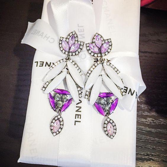 The Violet Gala Earrings