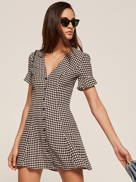 Gingham Wrap Dress - Chic Outfit Ideas That Prove Checkered Print Is The Trend We Need Immediately - Photos
