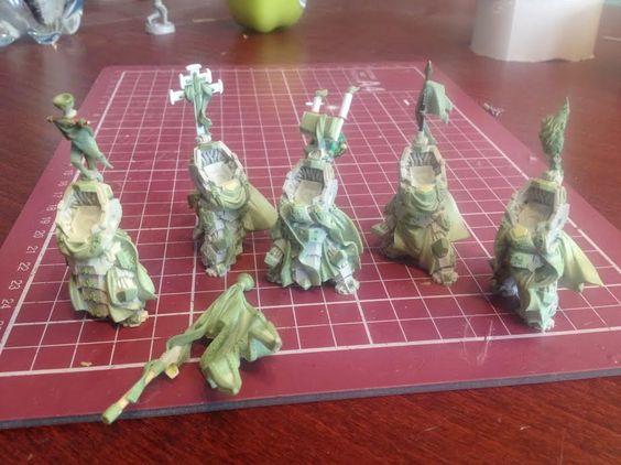 Preview of yet unreleased heavy Mankind troopers. Work-in-progress shots.