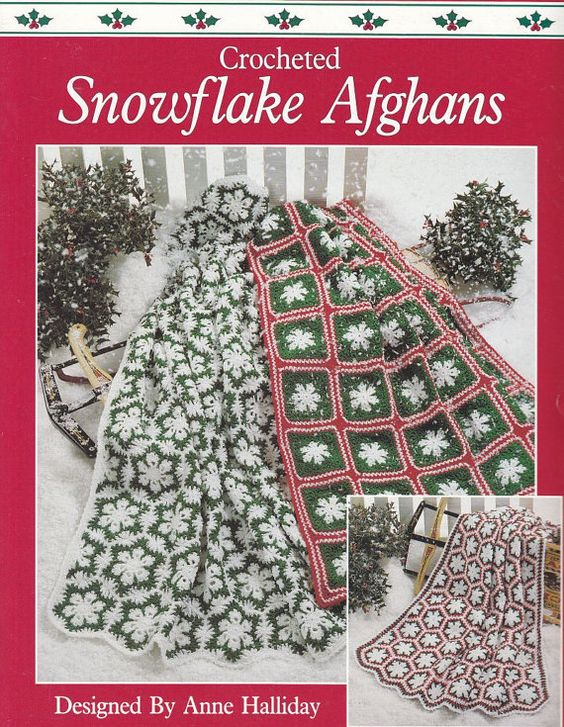 Snowflake Afghan Crochet Patterns - 3 Designs for Christmas Winter