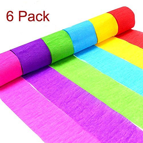 26 Rolls 710 Yard Party Streamers Rainbow Streamers Photo Booth Backdrop Decorations Red Green Blue White Black Crepe Paper Decorative Streamers 1.8 W x 27 Yard//roll for Birthday Holiday Mexican Festival Party Decor
