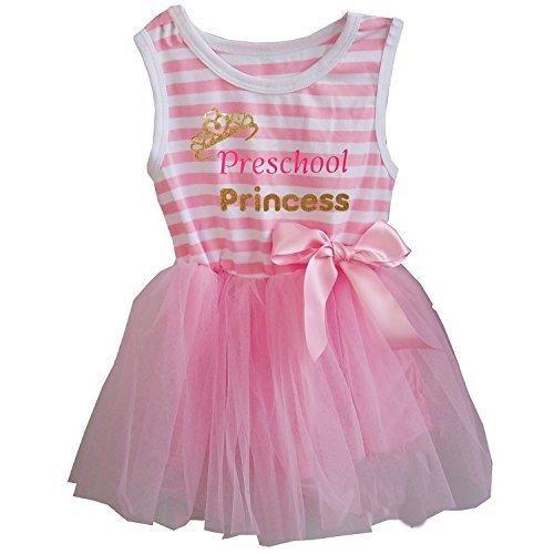 Kirei Sui Preschool Princess Stripes Tulle Tutu Dress M Pink