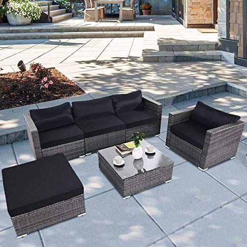 Amazing Offer On Tangkula 6pc Patio Furniture Set Outdoor Garden