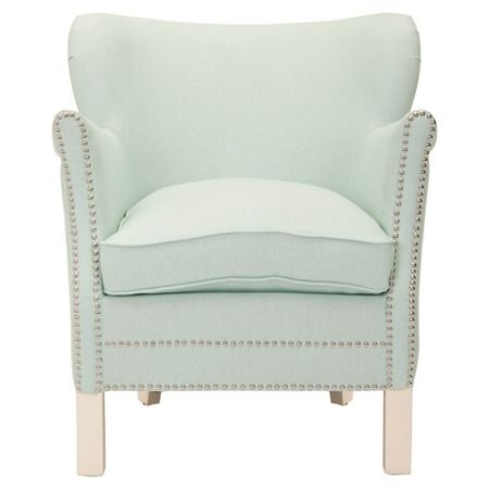 I LOVEthis Jayden Club Chair in Seafoam from Joss & Main! It is more of a Robbins egg blue. ohh to die for!