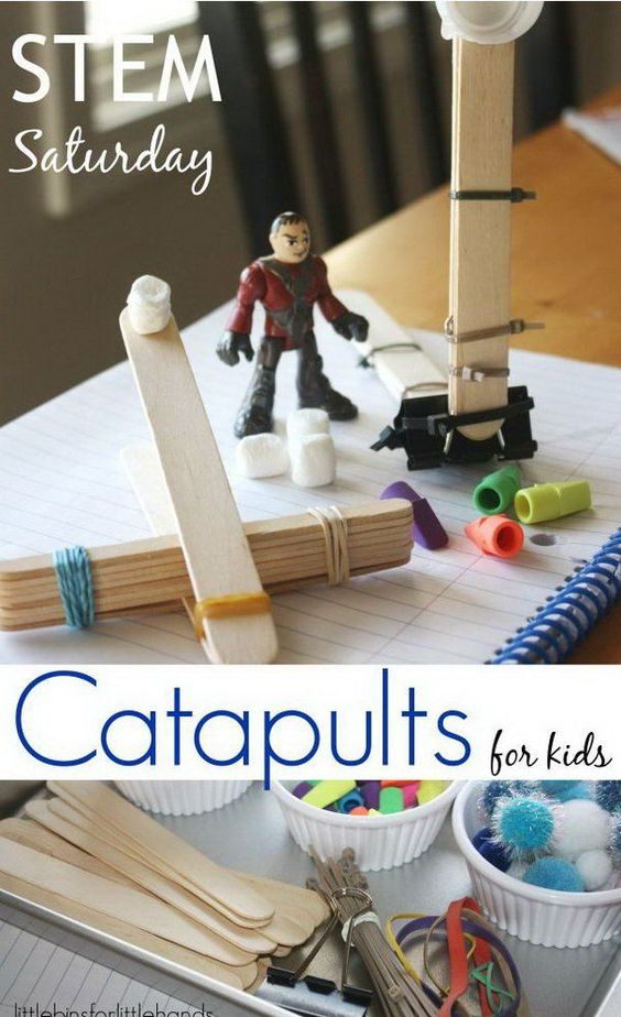 20 creative and instrutive diy catapult projects for kids for Ideas for building with popsicle sticks