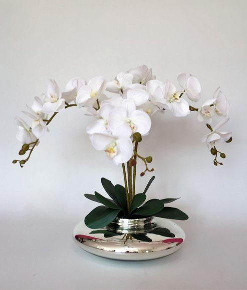 Arranjo De Orquidea Com Vaso Espelhado Arranjos De Orquideas