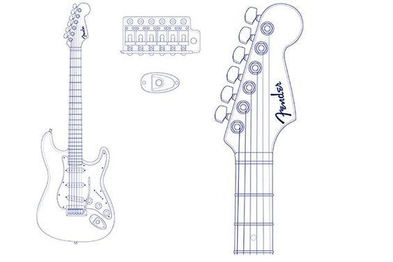 Graphics Templates And Fender Stratocaster On Pinterest