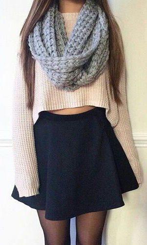 #fall #fashion / oversized knit scarf + knit