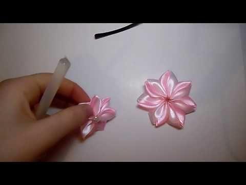 زهرة مزدوجة من شرائط الستان Diy Satin Ribbon 17 Youtube Satin Ribbon Flowers Satin Ribbon Roses Ribbon Embroidery Tutorial