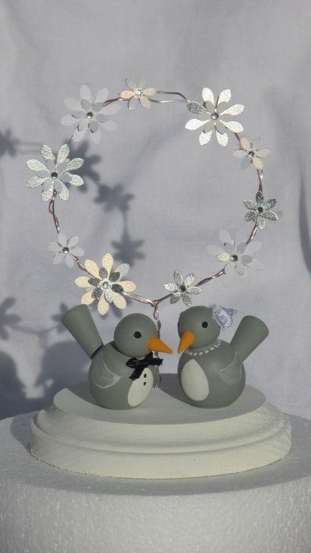 Cake Topper. Love Birds Cake topper. Doves cake topper. $65.