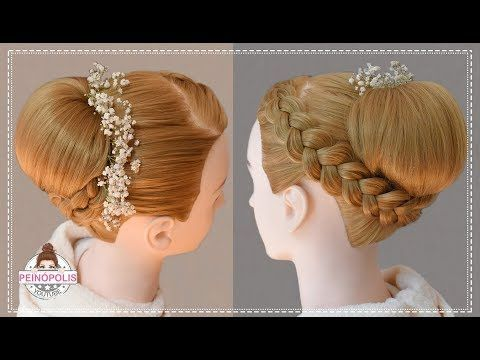 Recogidos De Fiesta Elegantes Altos Y Faciles Con Trenzas Para Novia Youtube Diamond Shape Earrings Dance Hairstyles Communion Hairstyles