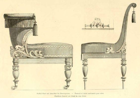 Img dessins meubles mobilier fauteuil et chaise rembourres for Chaise dessin