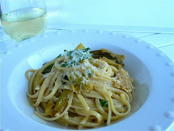 Spaghetti with Creamy Braised Garlic and Leeks | For the Love of Good ...