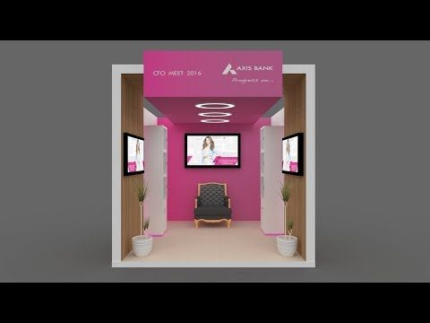 3ds Max Exhibition Stall Design Part 2 Youtube Exhibition Stall Design Stall Designs Exhibition Stall