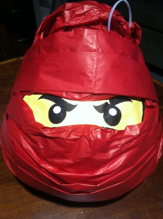 my homemade lego ninjago kai pinata i took a halloween. Black Bedroom Furniture Sets. Home Design Ideas