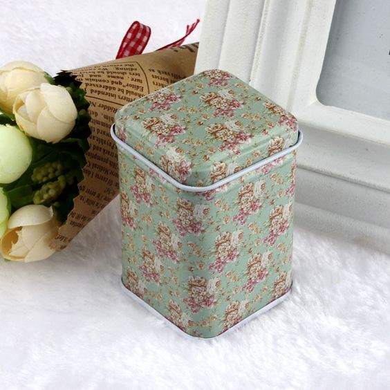Vovotrade Metal bombom Trinket Tin jóias ferro Tea Coin armazenamento praça caso Box frete grátis