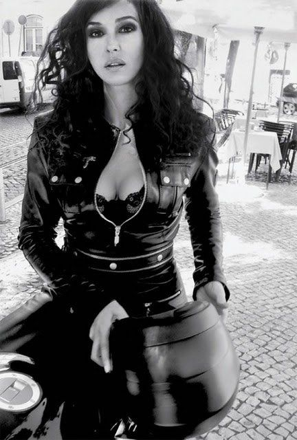 Hit the road. Monica Bellucci...ridiculous!