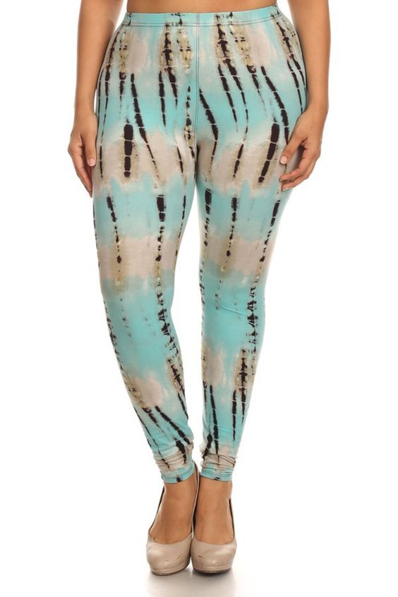 Mint Tie Dye Design Plus Size Leggings – Niobe Clothing