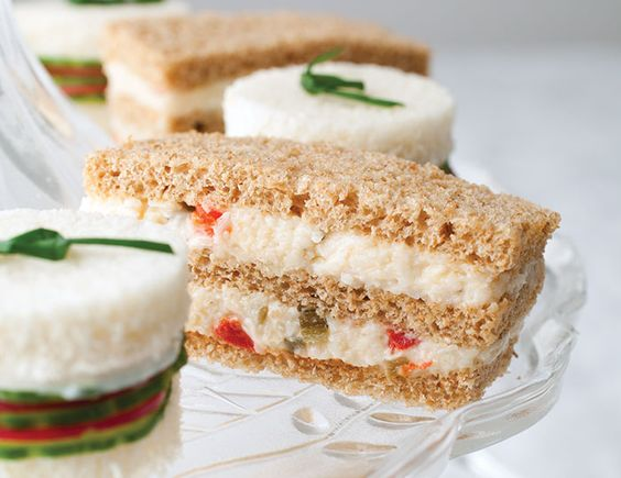 Pimiento Cheese Finger Sandwiches