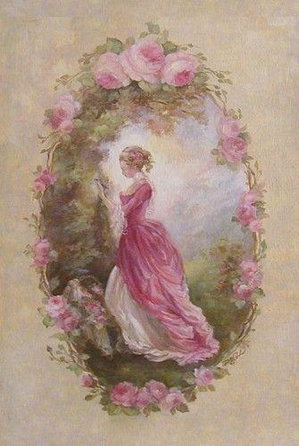 decoupage pintar mejor flores de todo tipo rosas frances postal