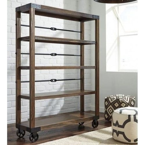 Industrial Bookcase Wheels Industrial Bookcases Bookcase Home Decor