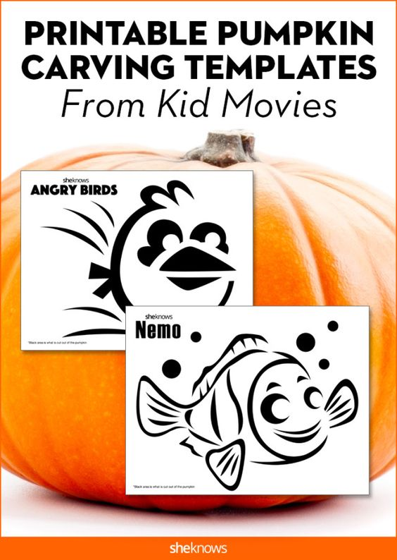 Pumpkin carving templates from Frozen and other kids' movies. #Halloween