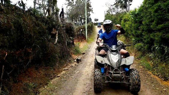 STUNNING ATV 1HR + FUN RAFTING 3HR from Medellin - Image 1