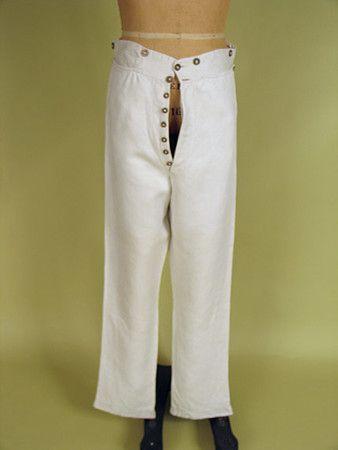 Pantalones blancos de lino Gent, América, c.  1830 -