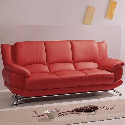 20 Stylish Leather Couch Designs | Orange Couch, Leather Sofas And Couch  Sofa
