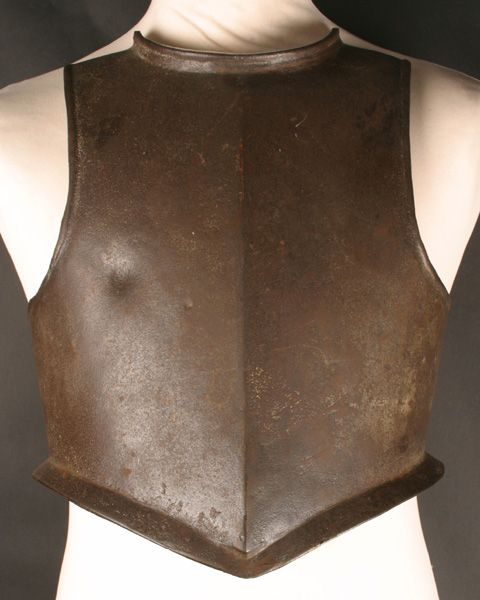 17th century English Civil War Harquebusier's breast plate.