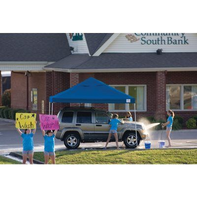 12x12 ST Pop-up Canopy, Blue Cover, Black Roller Bag #Canopies #ShadingCooling #CozyDays