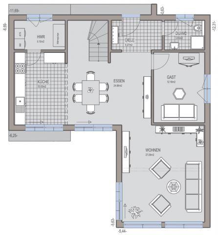 Moderne häuser grundriss l form  Aussenansicht Terrasse | Архитектура | Pinterest | Hausbau ...